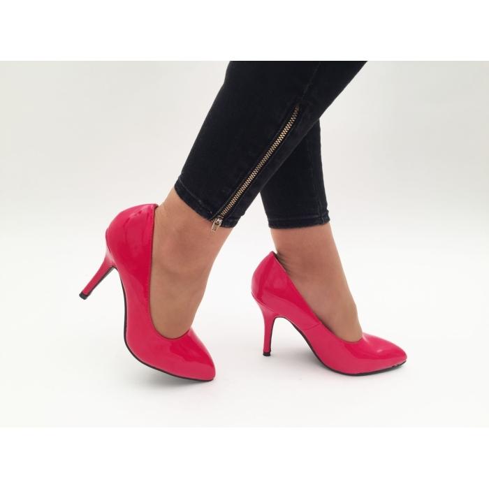 Pantofi cu toc Sona Red