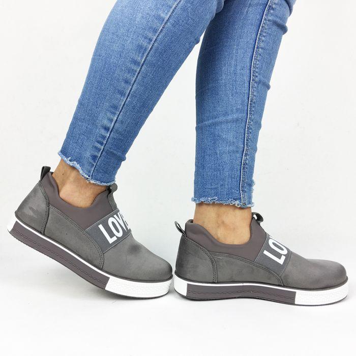 Pantofi Casual Hazel Grey