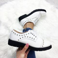 Pantofi Casual Tudi White