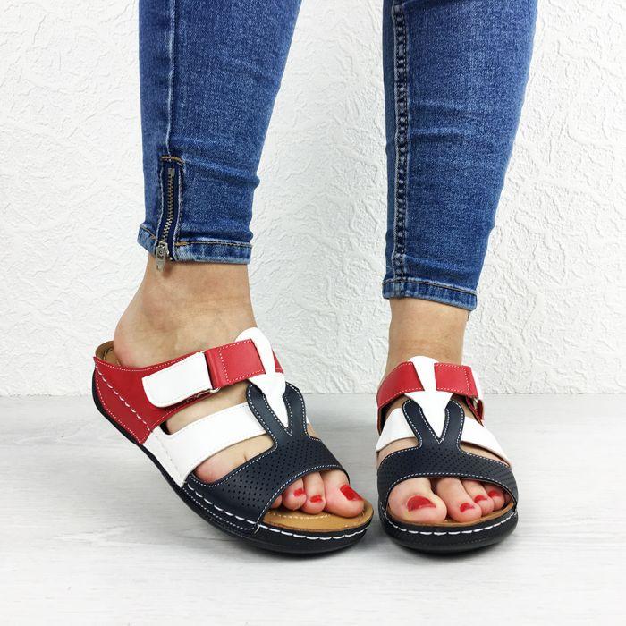 Papuci dama Despina Blue/Red/White
