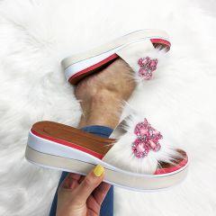 Papuci dama Clarisa Beige