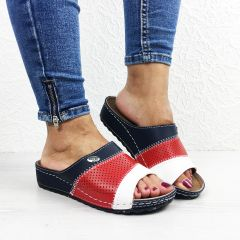 Papuci dama Cairo Blue/Red/White