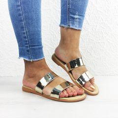 Papuci dama Minia Gold