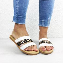 Papuci dama Tigra White