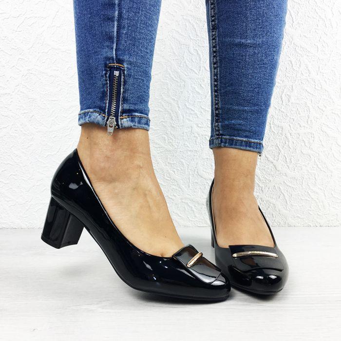 Pantofi cu toc Elgin Black