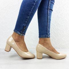 Pantofi cu toc Hey Beige