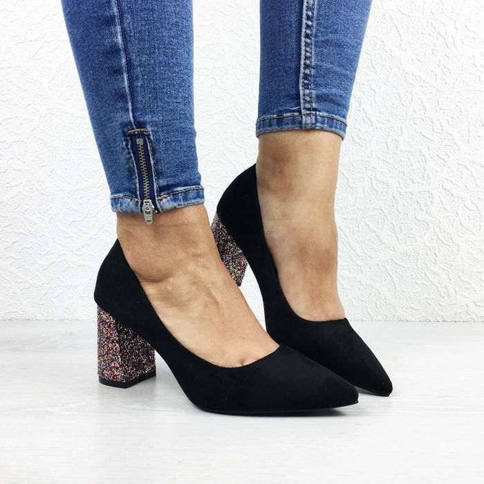 Pantofi cu toc Scarpeti Black/Musit