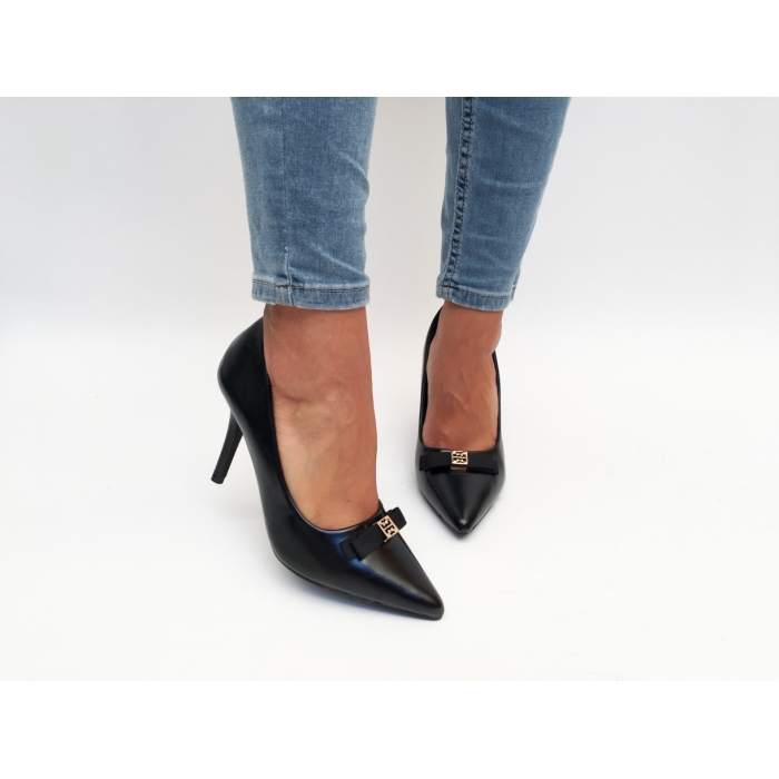 Pantofi cu toc Poka Black