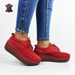 Pantofi piele naturala West Red