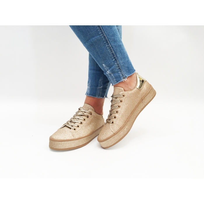 Pantofi Casual Ely Gold