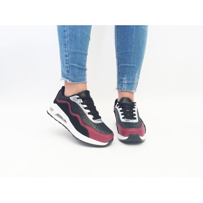 Pantofi Sport Clony Black/Wine