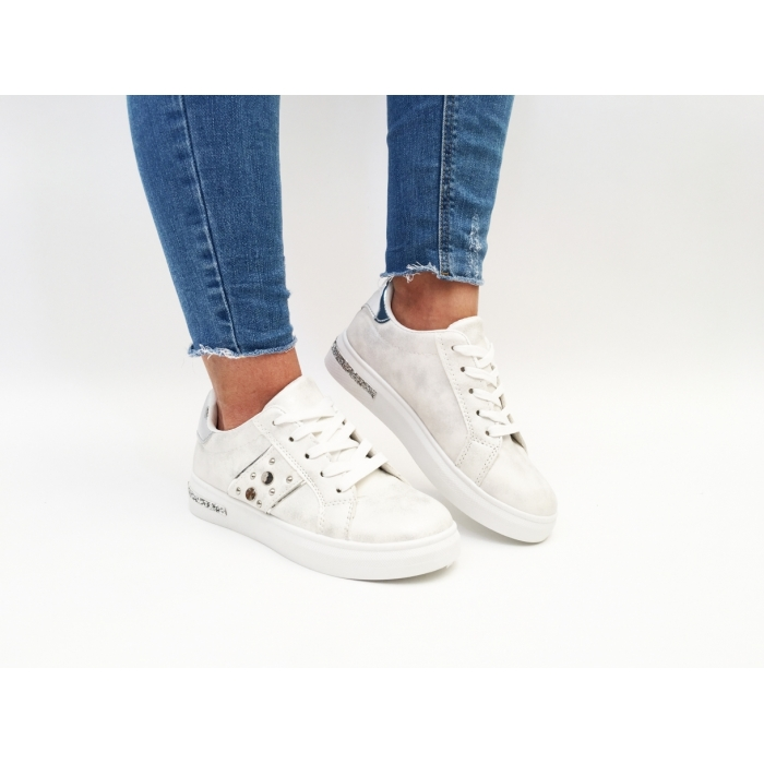 Pantofi Casual Evia White