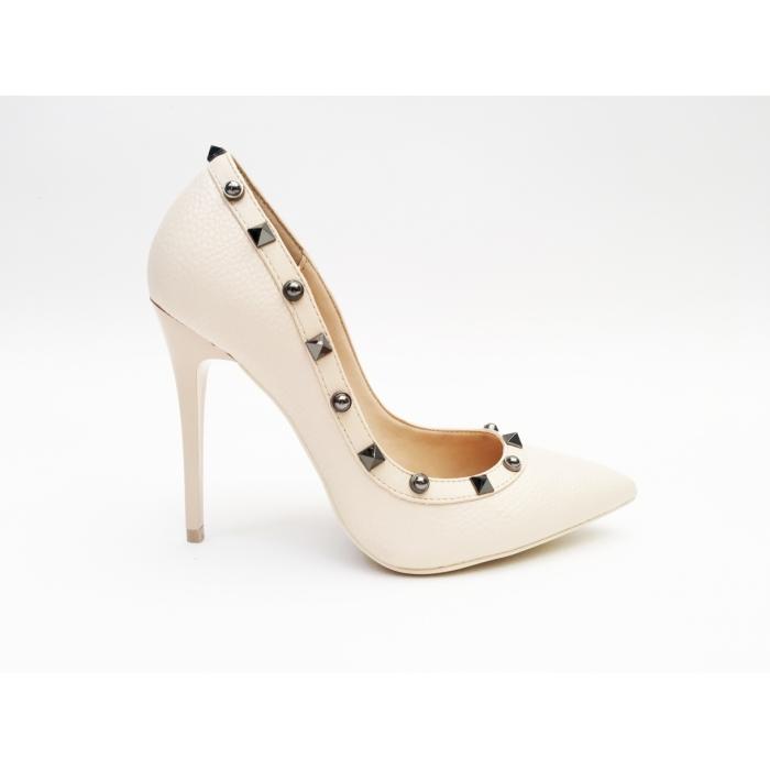 Pantofi cu toc Doxy Beige