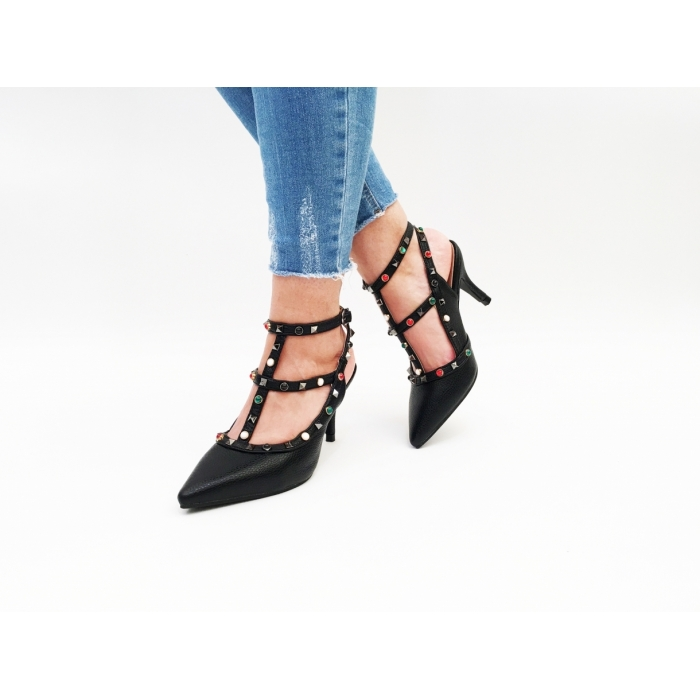 Pantofi cu toc Bagoti Black
