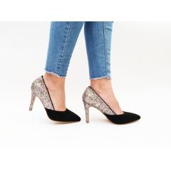 Pantofi cu toc Mina Black/Fullcolour