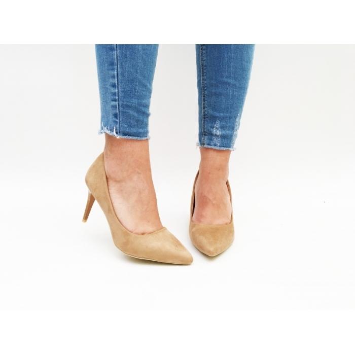 Pantofi cu toc Angis Beige