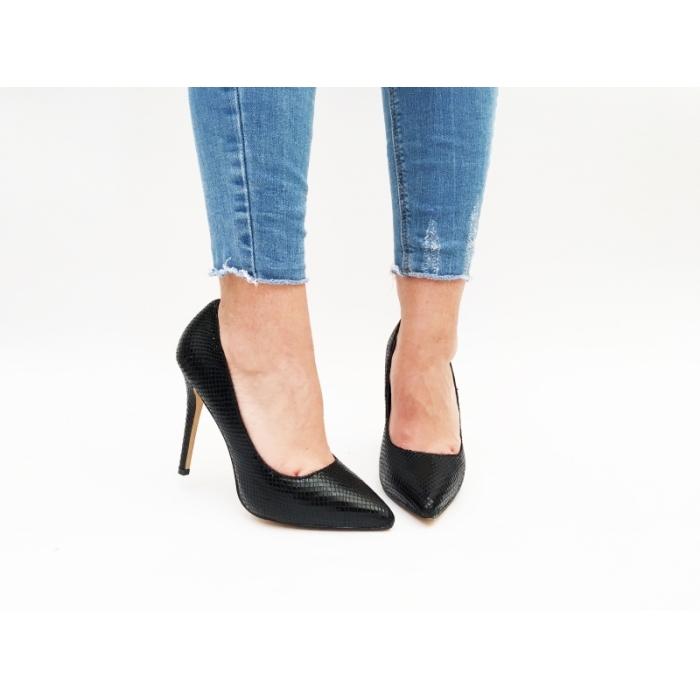 Pantofi cu toc Mono Black