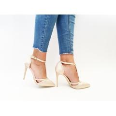 Pantofi cu toc Londa Beige