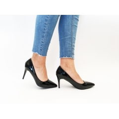 Pantofi cu toc Sigma Black
