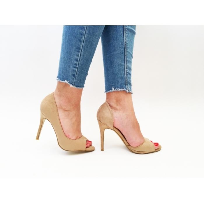 Pantofi cu toc Dumba Beige