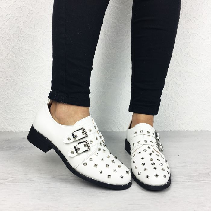 Pantofi Casual Canola White